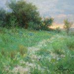 Impressionist Texas landscape by Byron