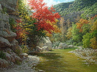 realistic autumn landscape oil painting by William Hagerman