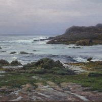California coast seascape oil painting by William Hagerman