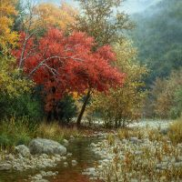 autumn landscape oil painting by William Hagerman