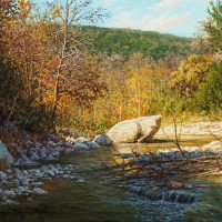 Texas autumn landscape oil painting by William Hagerman