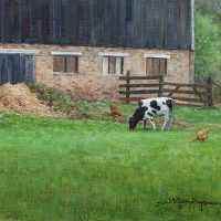 Peaceful Grazing 9x12 oil copyright