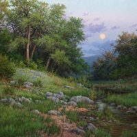 bluebonnet oil painting by William Hagerman